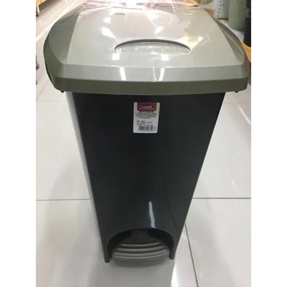 Lixeira-De-Plastico-15-L-Com-Pedal-Ecoblack---Ouro-Velho