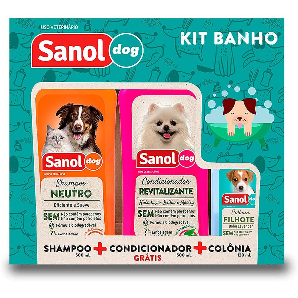 Kit-Banho-Dog-Sampoo-500M-Condicionador-500Ml-Colonia-120Ml---Sanol
