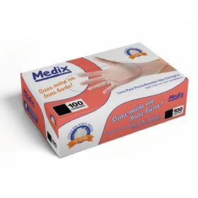 Luva-Vinil-Com-Po-com-100Un---Medix
